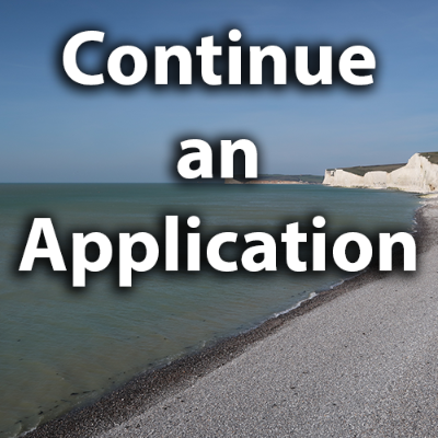 Continue an application
